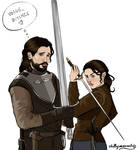 Jon and Arya for Vogue Westeros