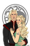 Daemon Targaryen and Laena Velaryon.