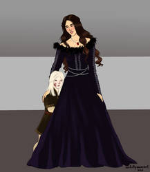 Melissa Blackwood and Brynden Rivers by chillyravenart