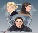 R+L= Jon Snow by chillyravenart