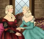 Rhaenyra Targaryen And Laena Velaryon