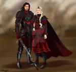 Dark Dany x Jon Commission by chillyravenart