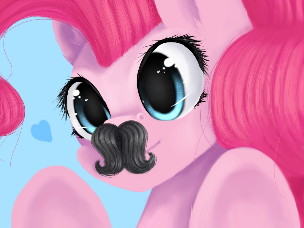 my little pony pinkie pie look at my mustache by iponylover