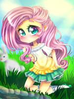 Fluttershy - Um h-hi by IPonyLover
