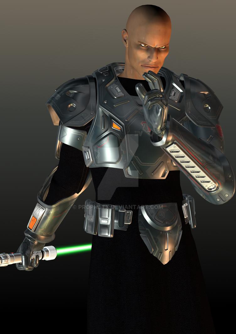 Male Grey Jedi by ProphetX