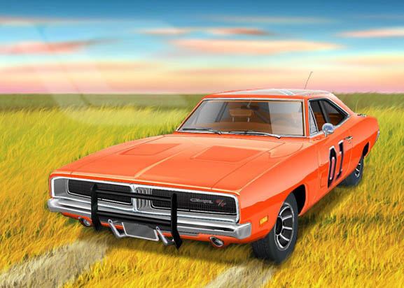 the dukes of hazard general lee 69 dodge charger by. Black Bedroom Furniture Sets. Home Design Ideas
