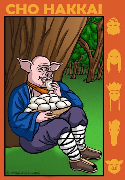Cho Hakkai's gluttony by WylzGutierrez