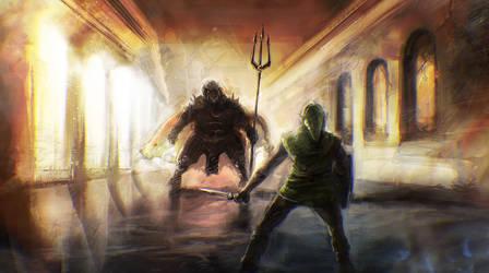 Link contre Ganon
