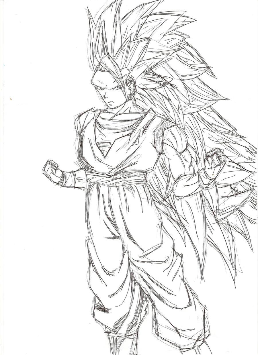 Dibujos Para Colorear De Goku Super Saiyan 4 Imagui