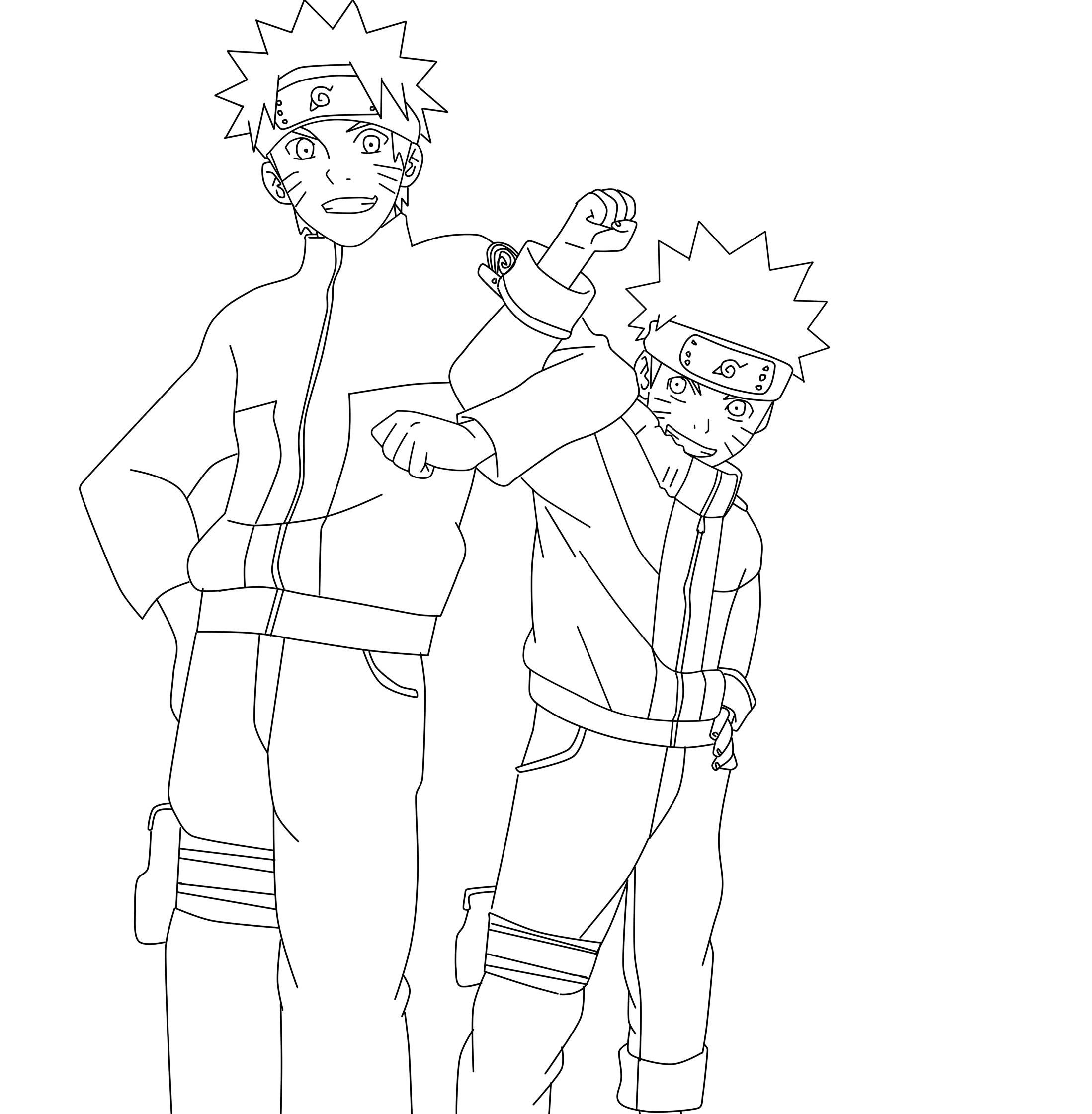 Lineart Naruto : Naruto and lineart by krizeii on deviantart