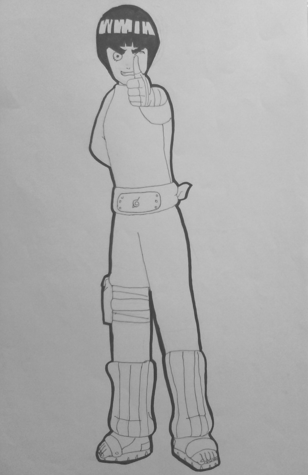 Rock Lee _PTS_ Drawing-Lineart by Krizeii on DeviantArt