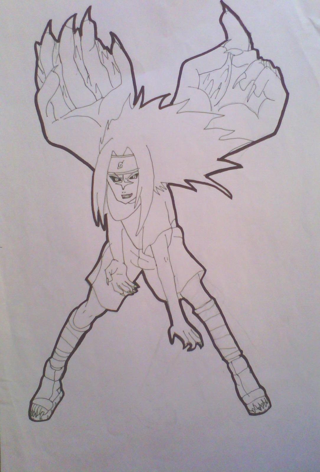 Sasuke Uchiha PTS _Curse mark level 2_ Drawing_L. by ...