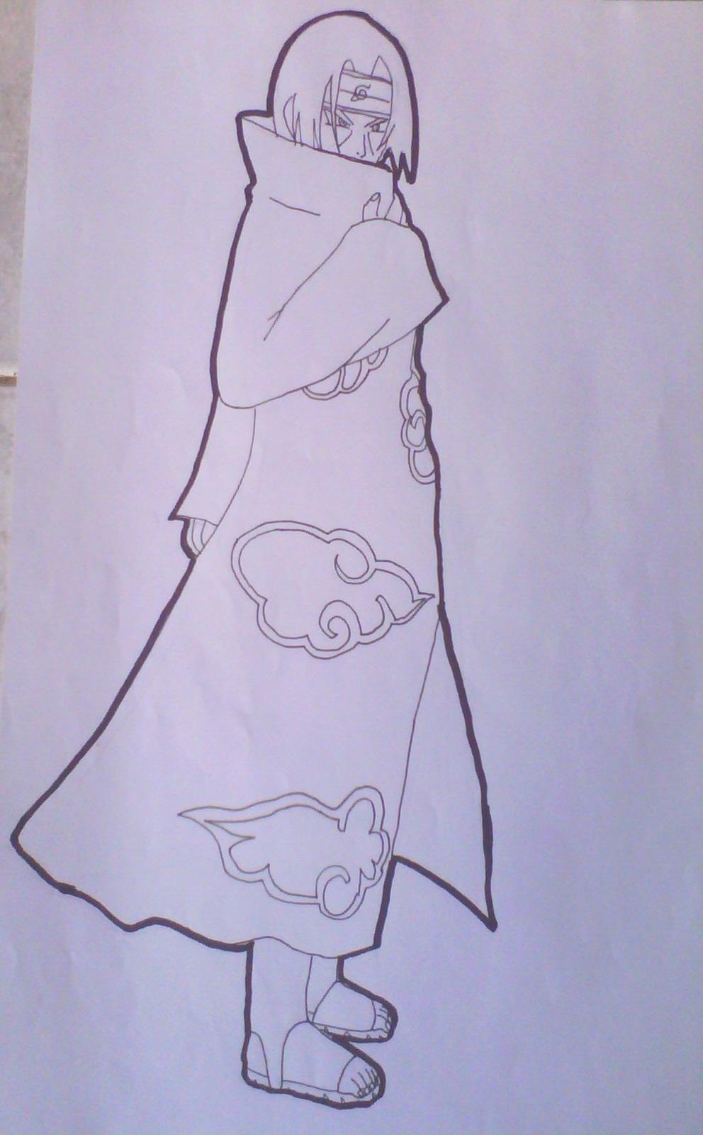 Itachi Uchiha 2 Drawing-Lineart by Krizeii on DeviantArt