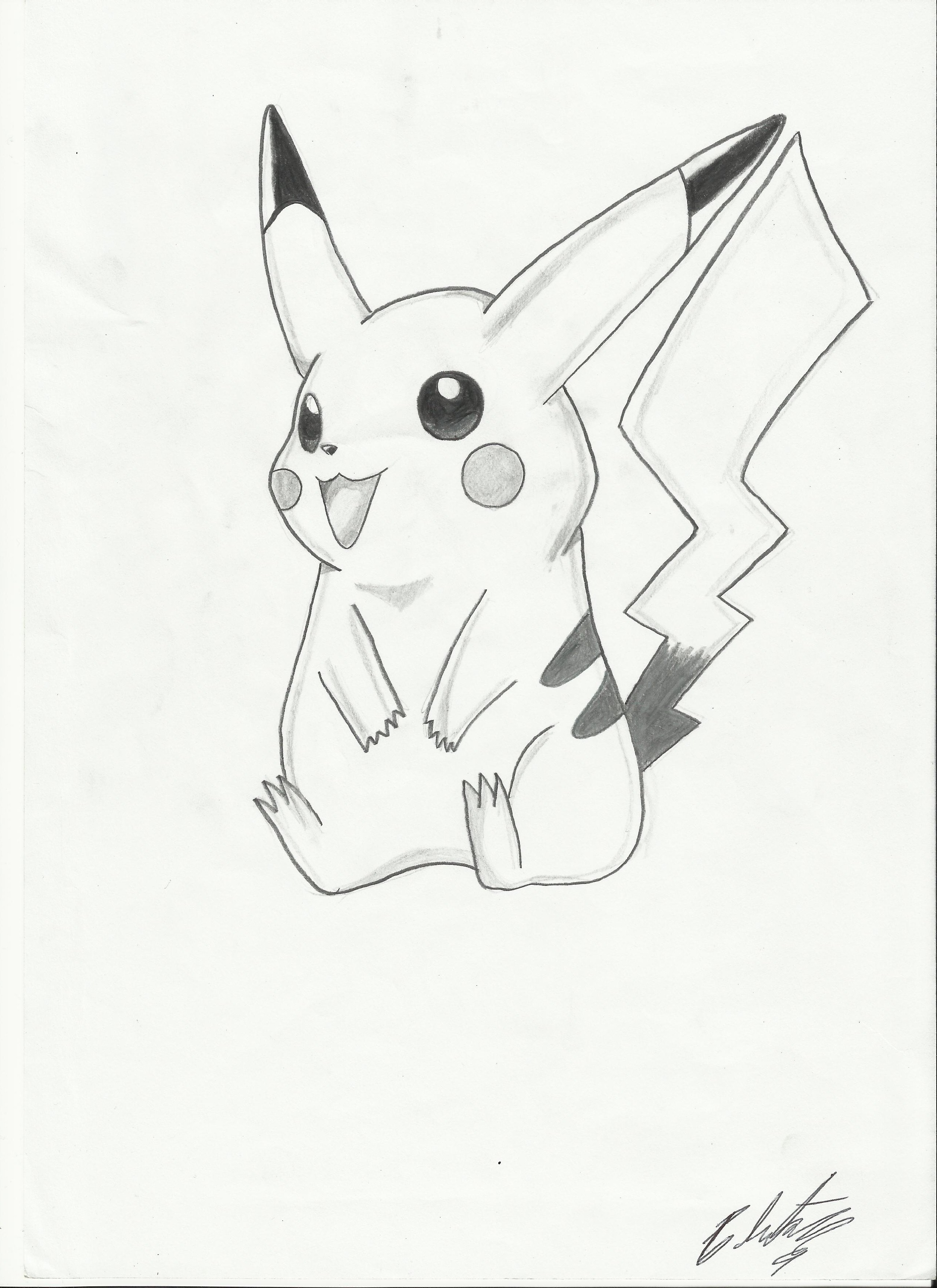 pikachu drawing by krizeii on deviantart