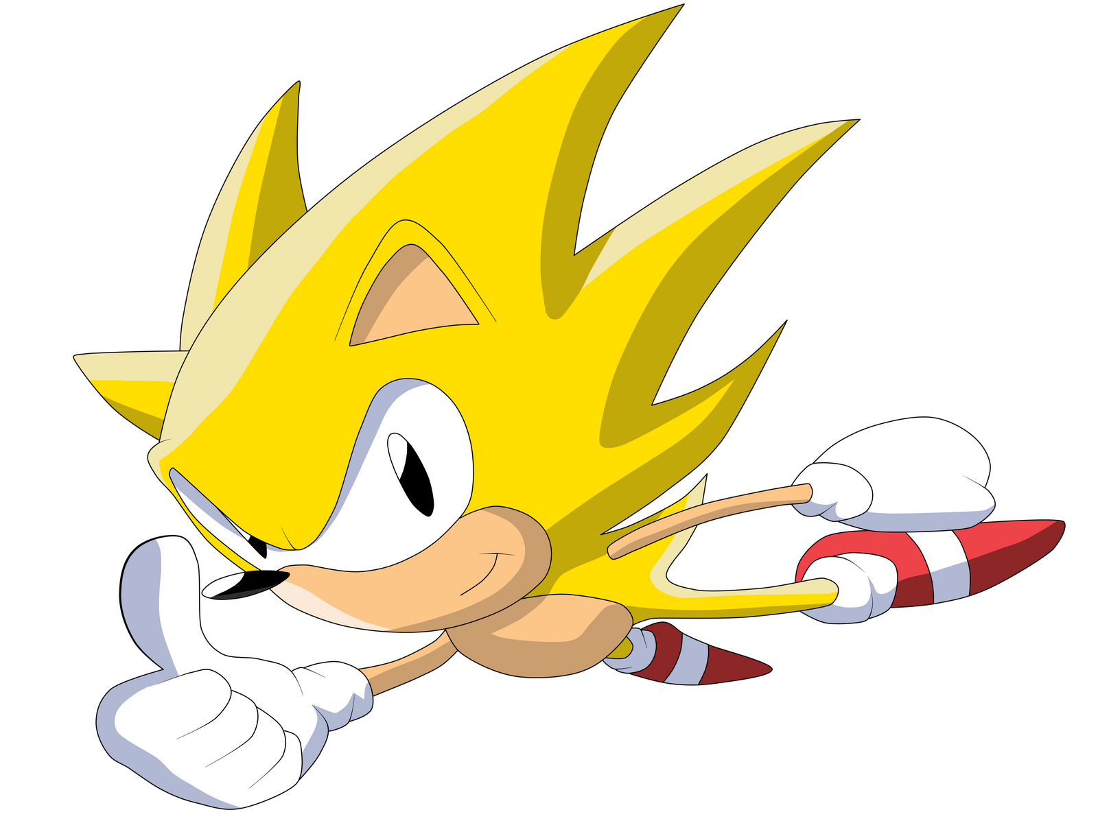 super sonic -classic_ by krizeii on deviantart - Classic Super Sonic Coloring Pages