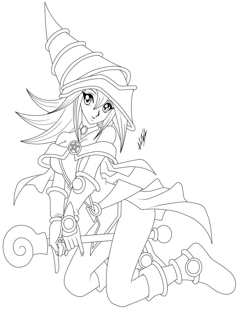 dark magician girl coloring pages - photo#6