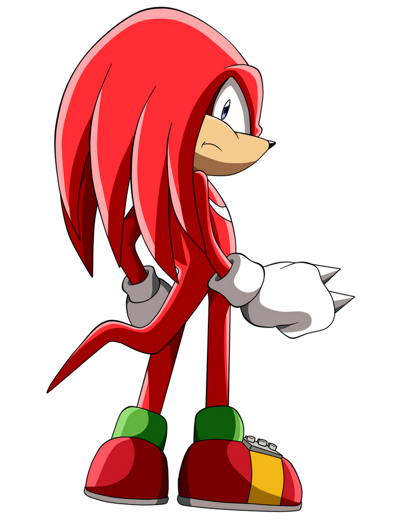 Knuckles -lineartcolor- by Krizeii