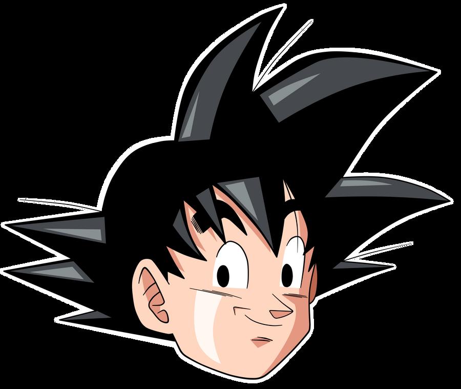 Dbz Son Goku Head By Krizeii On Deviantart