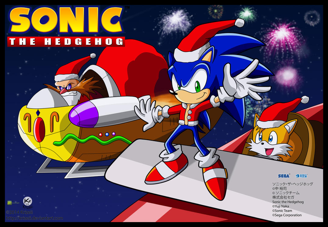 Sonic Christmas poster by Krizeii