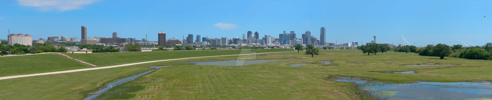 Dallas Skyline beyond Trinity River Park 01 by stretchc