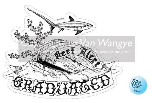 Reef Alert Course Graduation Sticker
