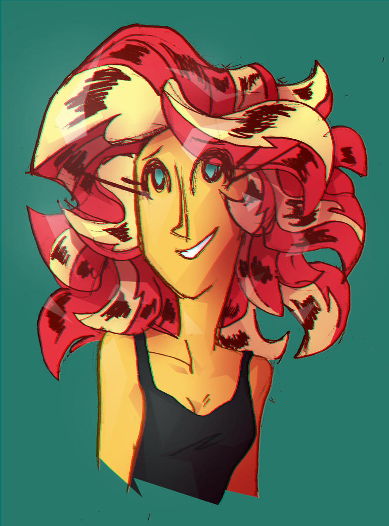Sunset Shimmer colour test by Eliotchan