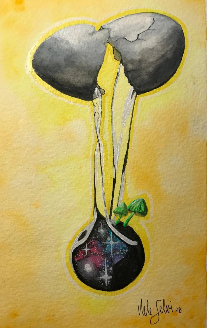 Universe hatching  by NeleSelvi