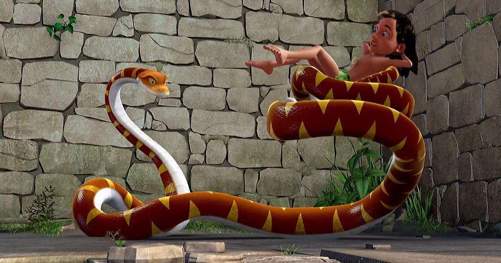 Mowgli and Kaa in The Jungle Book TV Series 3 by Swedishhero94