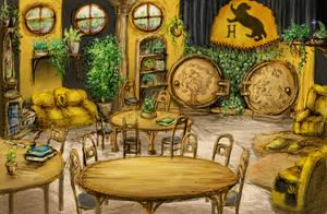 Hufflepuff Common Room by GnomeSchool