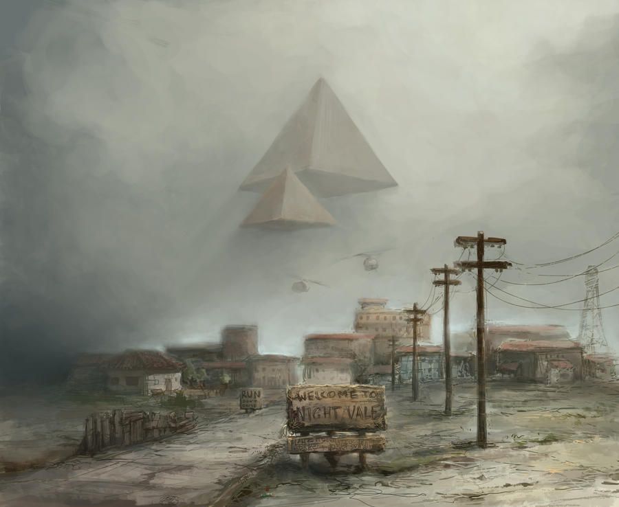 Pyramids over Night Vale by GnomeSchool
