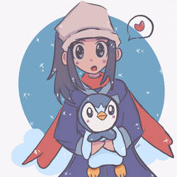 Pokemon Dawn and Piplup