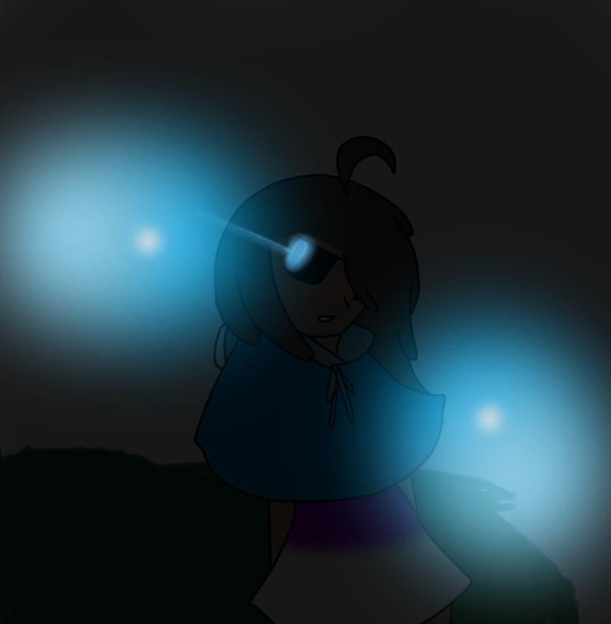 Dinah the skeleton half human blue riding hood by dinahthefluffyfoxx