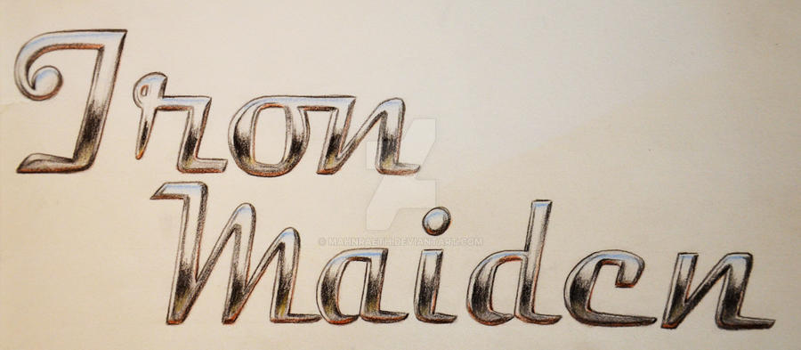 Iron Maiden Chrome Lettering by Mahnraeth