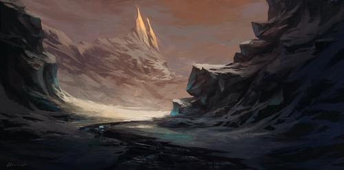Paysage montagnes