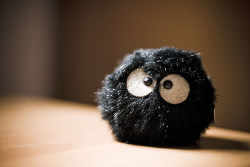 fluffy black thing . by kasioor