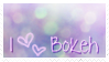 i love bokeh stamp