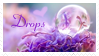 i love drops stamp
