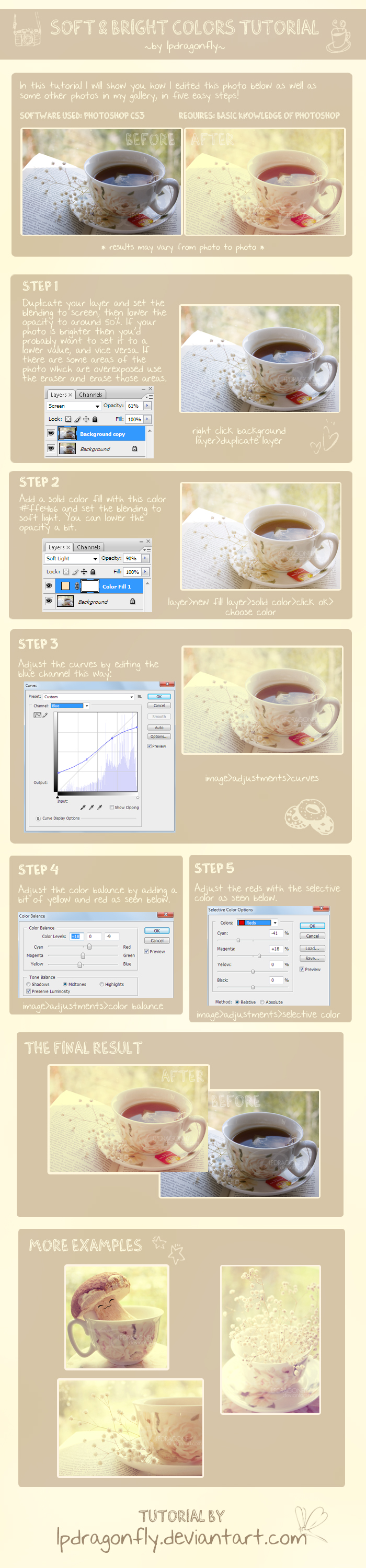 soft bright colors tutorial by ivadesign