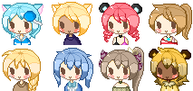 Pixel Icon Commission Examples by Tamuu-ii