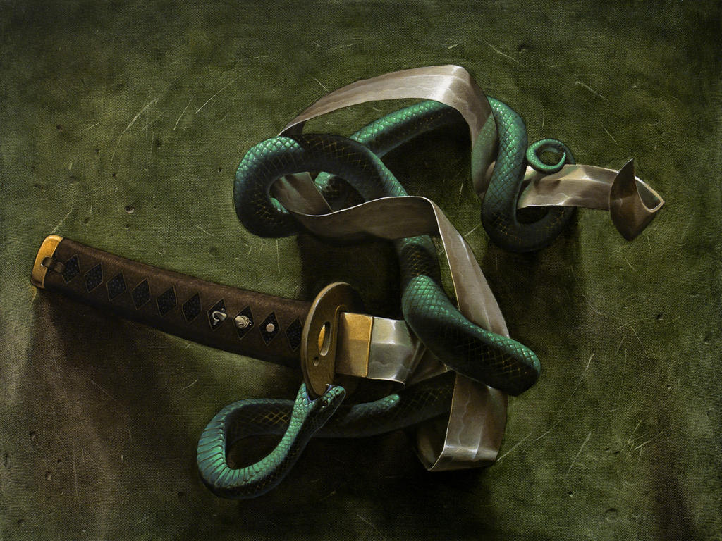 Snake and sword by kos1604