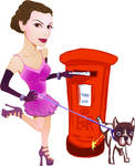 Pillar Box Pin Up