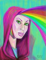 Rainbow girl by Pudsybear