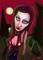 Vampire in the moonlight by Pudsybear