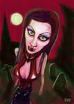 Vampire in the moonlight