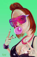 Bubble Gum Pink by Pudsybear