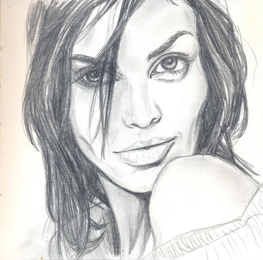 Woman sketch 1 by Pudsybear
