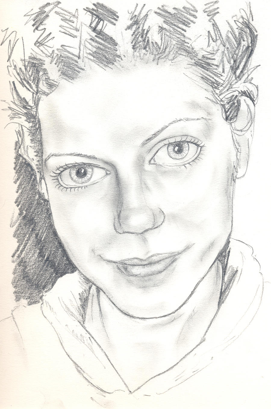 Girl portrait 3 by Pudsybear