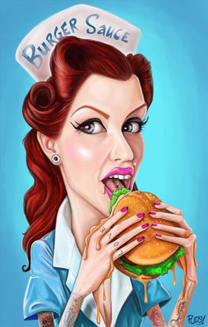 New Burger Sauce Girl