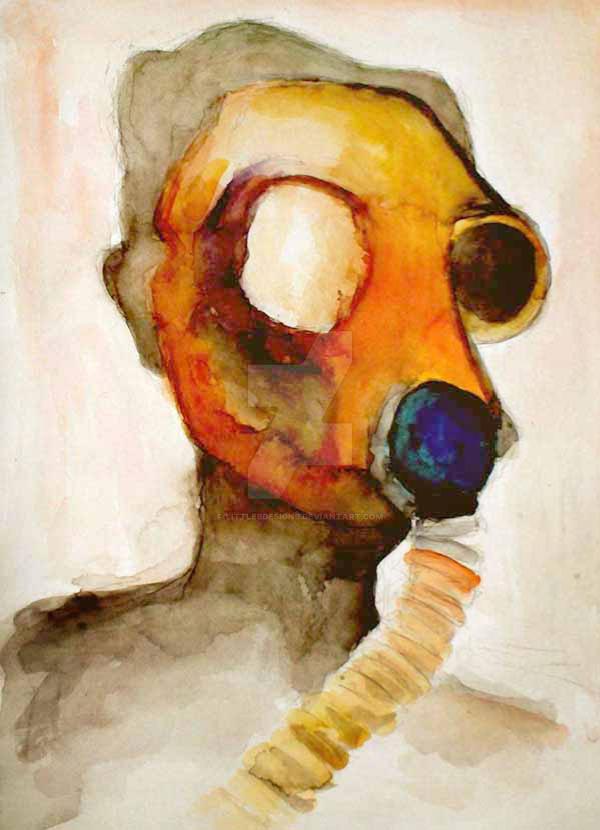 Gas Mask by LittleBDesigns