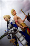 Fate Stay Night - Saber and Gilgamesh
